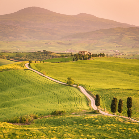 ピエンツァ、トスカーナ、ヴァル ド オルチャ 写真素材