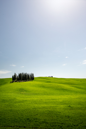 Val dOrcia in Tuscany, Italy. Stock Photo