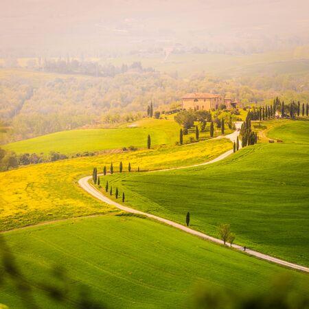 Crete Senesi in Tuscany, Italy.