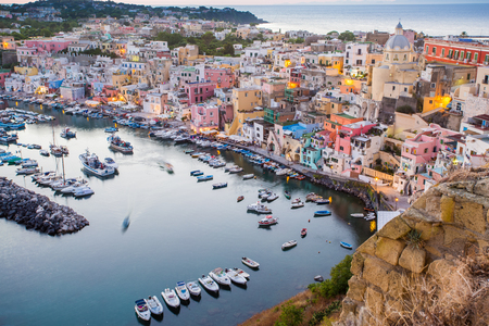Procida, La Corricella Harbour. Campania, Italy. Editorial