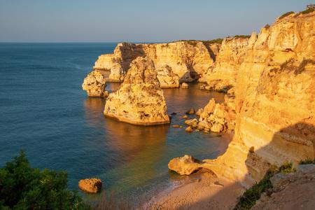 Praia da Marinha, Algarve, Portugal. Sunrise