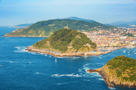 San Sebastian from above, Basque Country, Spain Фото со стока