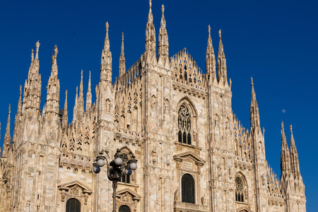 Milan, Duomo Cathedral faciade. Lombardy, Italy Imagens