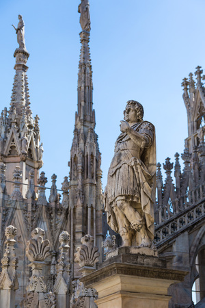 Statues at the Duomo of Milan, Lombardy, Italy Editöryel