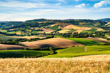 Landscape and country, Marche region, Central Italy, Europe