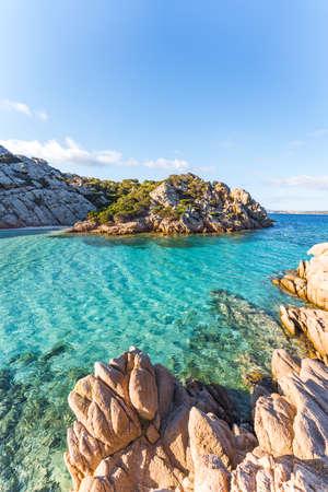 Cala Napoletana, wonderful bay in La Maddalena, Sardinia, Italy