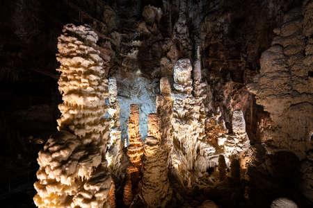 Underground krust cave in Marche Region, Italy. Frasassi Фото со стока