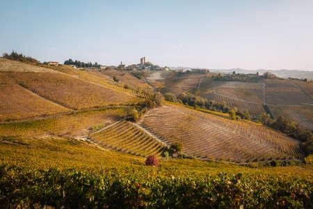 Langhe, Piedmont, Italy. Autumn landscape