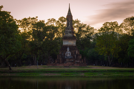 Beautiful  historic park in the middle of Thailand. Sunset in Thailand.