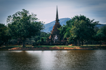 Beautiful  historic park in the middle of Thailand.