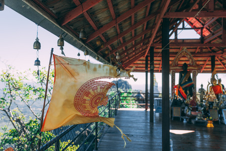 Wat Chaloemphrakiat in Thailand. Beautiful temple without tourists. Hidden gem in thailand