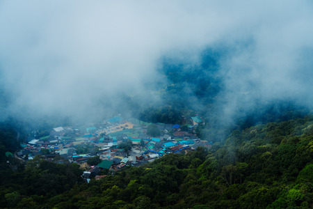 Hmong Village at the top of Doi Suthep in Chiang Mai. Viewpoint at the top