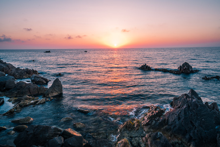 Most beautiful island in Europe. Clearest water in the Mediterranean Sea. Costa Paradiso. Amazing sunset with epic colors