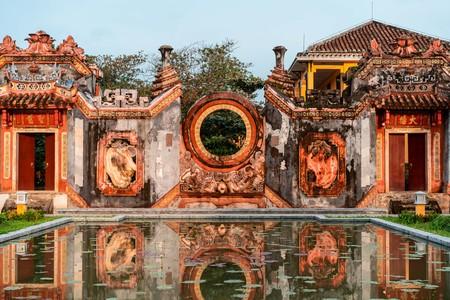 Details of Mother Temple (Chua Ba Mu) in Hoi An, Vietnam