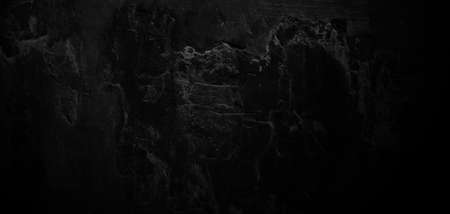 Horror Cement Texture. Grunge scary background. Wall Concrete Old black Imagens