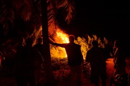 mesmerized: Unwinding at the bonfire