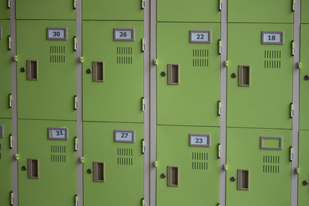 undressing: locker school box in Thailand Stock Photo
