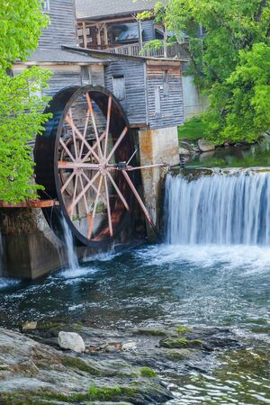 Beautiful landscape of Old Mill in Pigeon Forge - Smoky Mountains area ,Tennessee USA. Archivio Fotografico