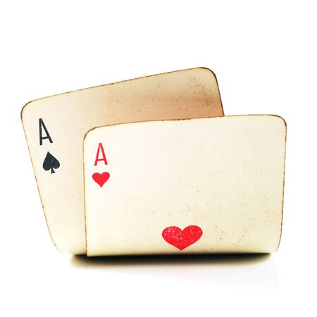 two old poker cards photo