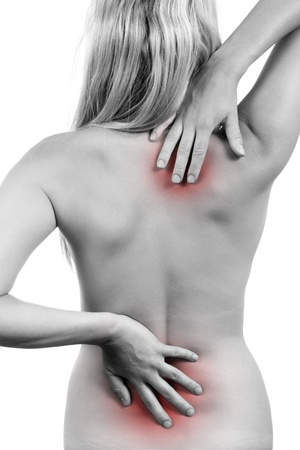 articulation: backache Stock Photo