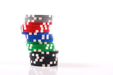 poker chips: chips stack Stock Photo