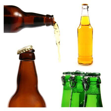 group of beer bottles photo