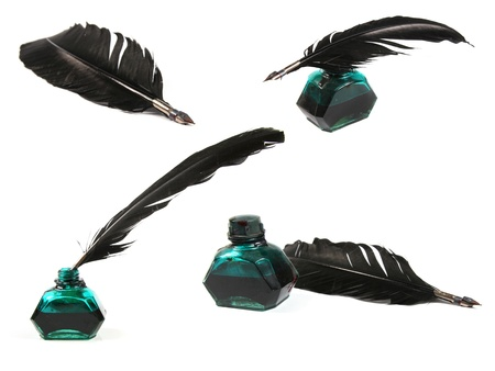 quill pen: Collection of quill pen