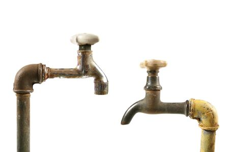 Two rusty water taps photo