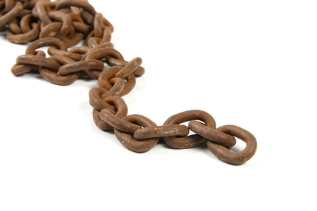 Old rusty chain Stock Photo - 11351040