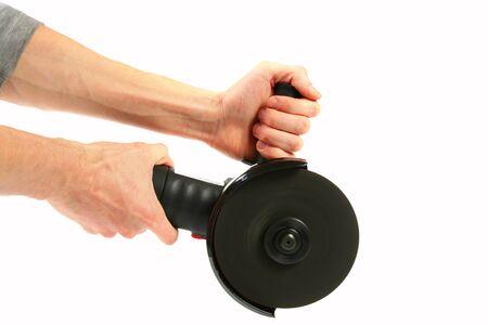 grinder: Working with angle grinder
