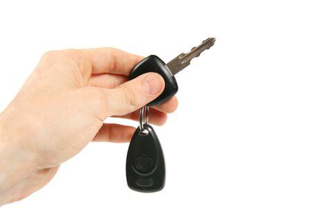 car loan: car key in the hand