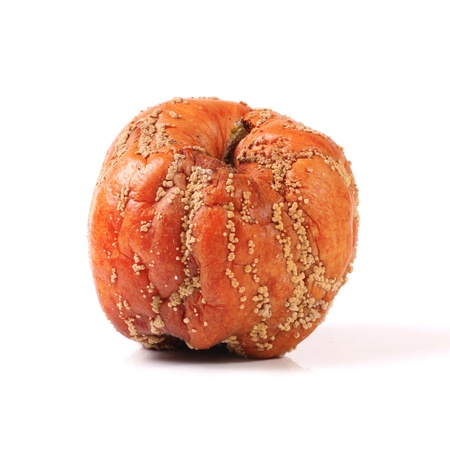 rotten fruit: Rotten apple isolated on white background