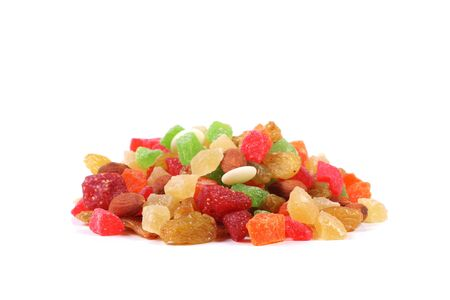 Variety of candied fruits and nuts photo