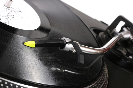 turntable playing vinyl record photo