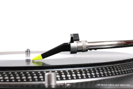 turntables: dj turntable needle and the vinyl record