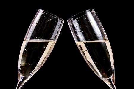 coupe de champagne: C�l�bration des toasts avec du champagne