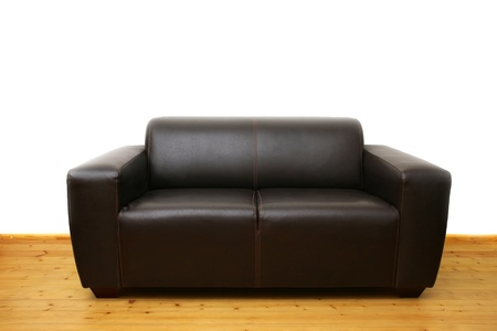 Brown leather sofa Stock Photo - 11351124