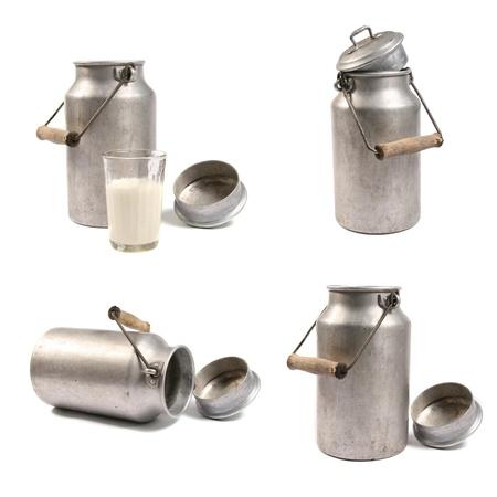 vaso de leche: Latas de leche
