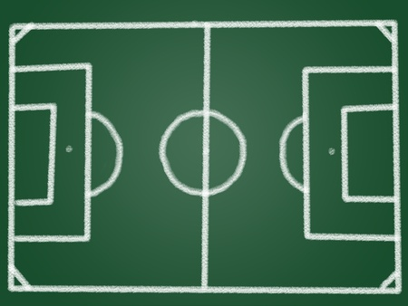 Tactic football field on blackboard photo