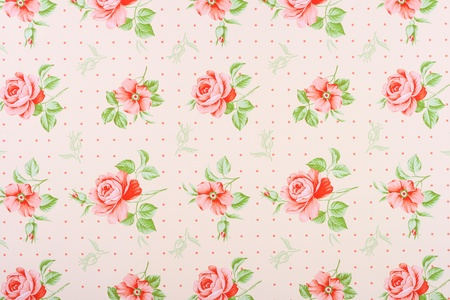 floral fabric: vintage background with roses Stock Photo