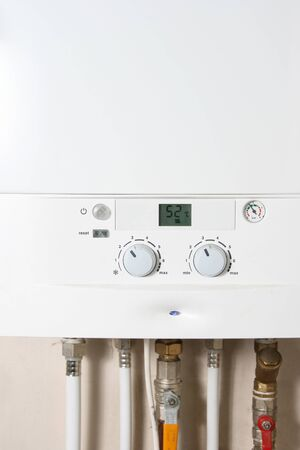 Central gas heating boiler photo
