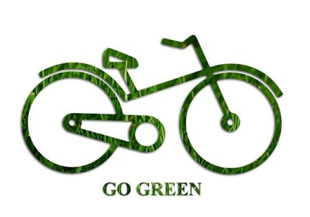eco logo: Go green concept