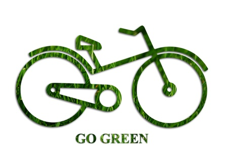 saludable logo: Ir concepto verde