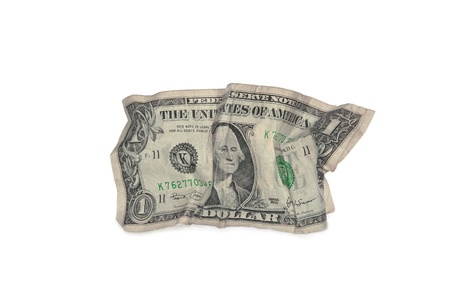 Creasy dollar bill  photo