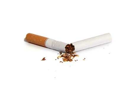 fag: broken cigarette Stock Photo