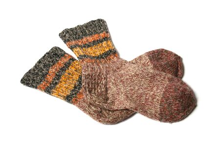knitted yarn socks photo