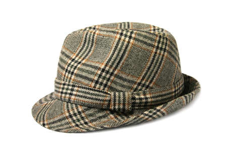 accesories: checked hat