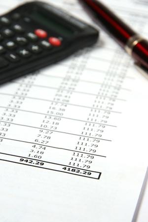 spendthrift: Credit bill Stock Photo