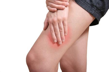 legs  white: Leg pain Stock Photo