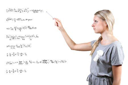 Mathematics teacher photo